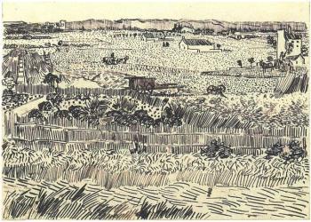 Vincent van Gogh 'Harvest Landscape', 1888