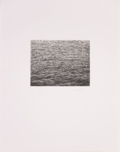Drypoint--Ocean Surface (Second State), 1985 (drypoint; 20.32x25.4 cm; Indianapolis Museum of Art, USA