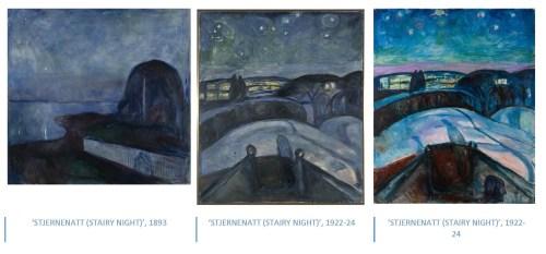 Edvard Munch - Serie Stairy Night - 1893 - 1924