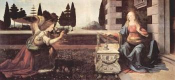 Leonardo da Vinci 'Annuciation'