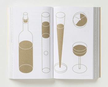 George Hardie poured wine into three specially designed glasses, which are each full with golden ratio proportions - the ratio of wine to emptiness is 1.618