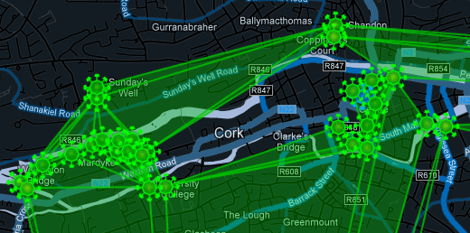 Ingress map of Cork