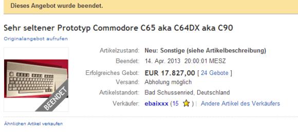 c65 on ebay