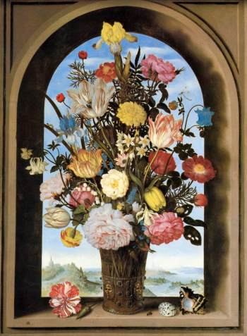 Ambrosius Boschaert_Bouquet in a niche_1618
