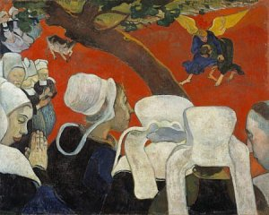 Paul Gauguin_Vision of the Sermon_1888