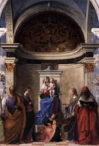 Giovanni Bellini_Madonna with child and saints_1505