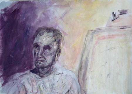 Stefan513593 - daily self-portrait #20: gouache on paper (30x40cm)
