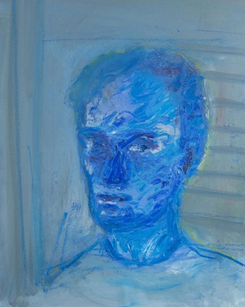 Stefan513593 - daily self-portrait #11: oil sticks on paper (40x30cm)