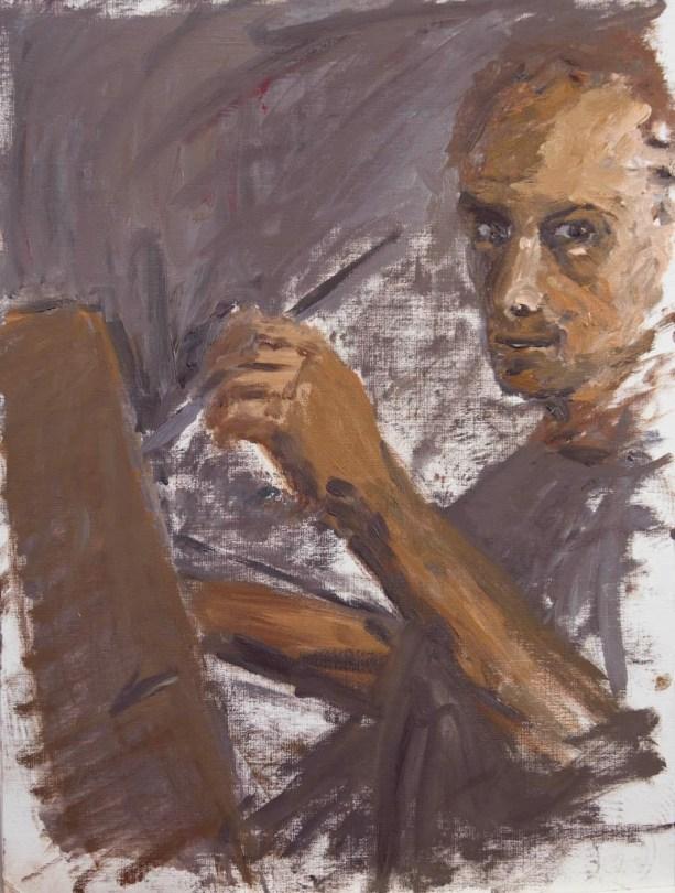 Stefan513593 - daily self-portrait #14: oil on paper (48x36cm)
