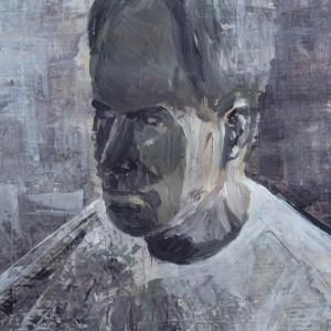 Stefan513593 - daily self-portrait #17: acrylic on primed paper (39x27cm)
