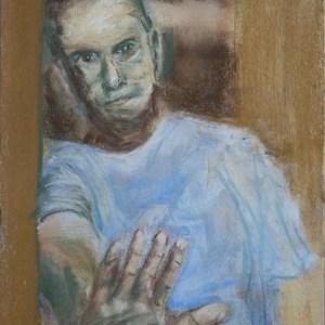Stefan513593 - daily self-portrait #23: Pastel on PastelCard (40x30cm)