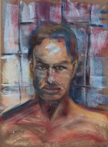 Stefan513593 - daily self-portrait #25: Pastel on PastelCard (40x30cm)