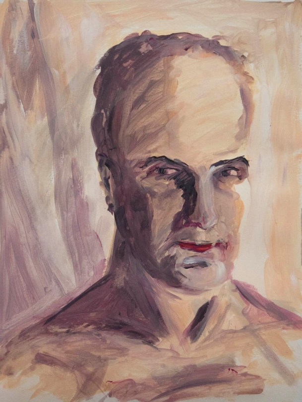 Stefan513593 - daily self-portrait #35: Acrylic on acrylic paper (48x36cm)