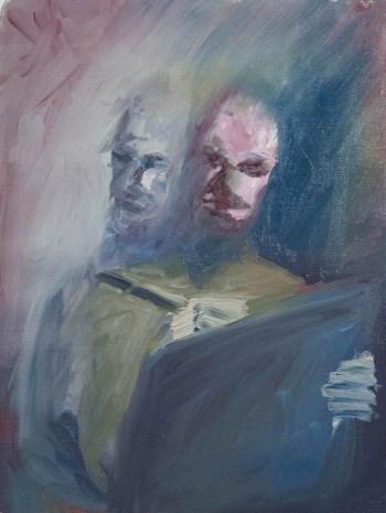 Stefan513593 - daily self-portrait #41: Oil on linen paper (48x36cm)