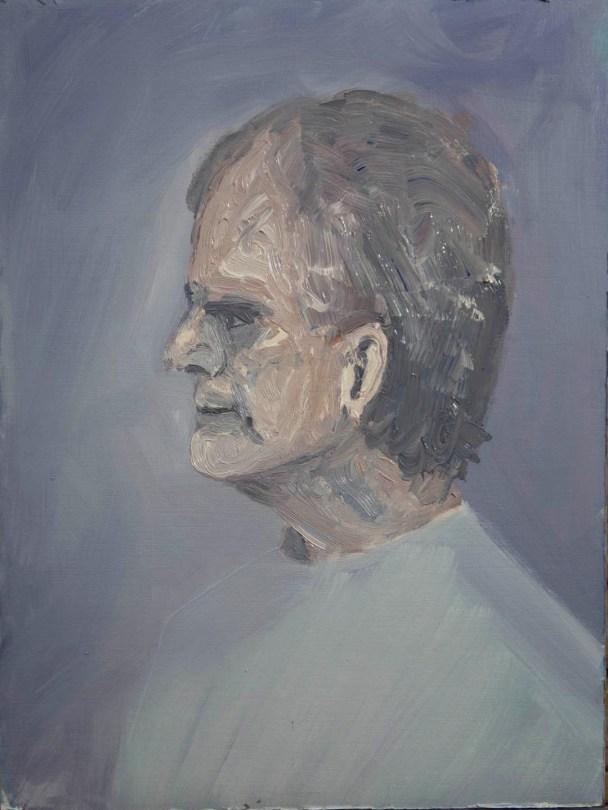 Stefan513593 - daily self-portrait #42: Oil on linen paper (48x36cm)
