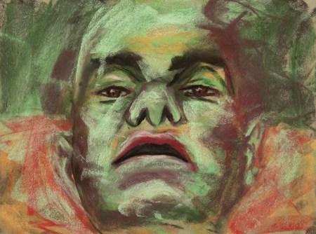 Stefan513593 - daily self-portrait #45: Pastel on PastelCard (40x30cm)