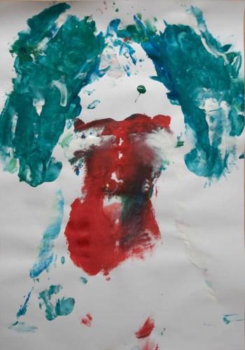 Stefan513593 - daily self-portrait #53: Gouache on paper (100x70cm)