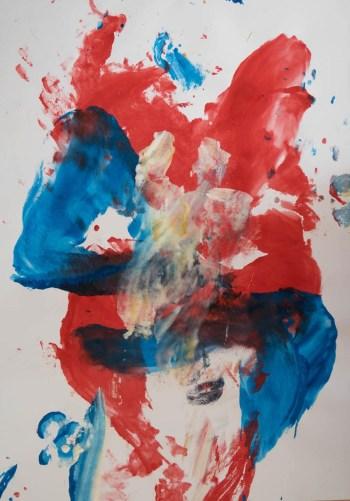 Stefan513593 - daily self-portrait #55: Gouache on paper (100x70cm)