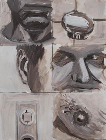 Stefan513593 - daily self-portrait #59: Acrylic on acrylic paper (48x36cm)