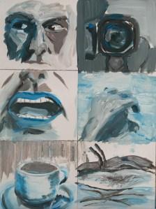 Stefan513593 - daily self-portrait #60: Acrylic on acrylic paper (48x36cm)