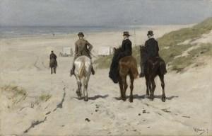 Anton Mauve 'Morgenrit lange het strand', 1876