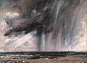 John Constable 'Seascape study with rain cloud', 1824