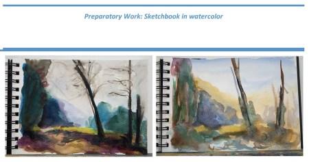 Stefan513593 - Project 4 - Outdoor painting - sketchbook in watercolor
