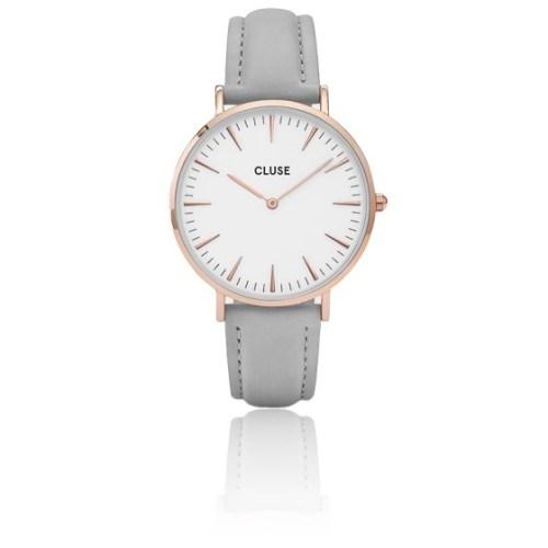 Resultado de imagen de Reloj de cuero en dorado rosa y gris CL18015 La Boheme de Cluse