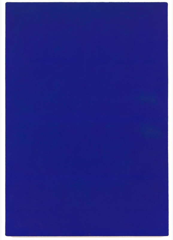 Yves Klein 'IKB74', 1958 - https://www.sfmoma.org/artwork/99.372#artwork-info