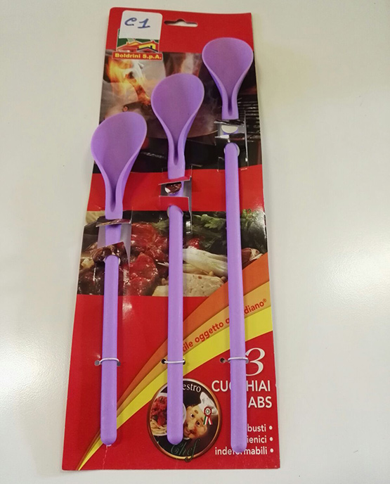 Set 3 pezzi completo di cucchiai da cucina in plastica (in abs)