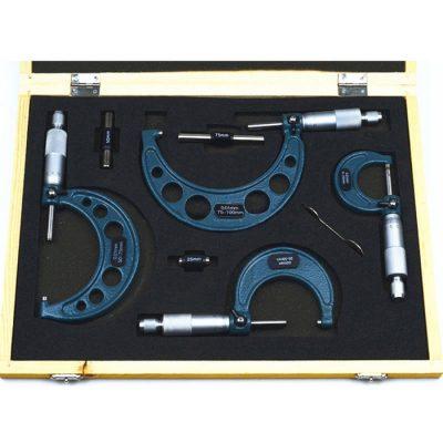 Micrómetros Set de 4 Micrometros de 0-100mm