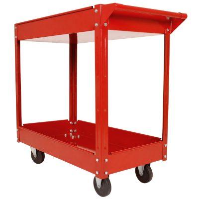 Carrinho de oficina com 3 pisos | Capacidade até 100 kg, feita de aço | Carrinho de ferramentas, carrinho