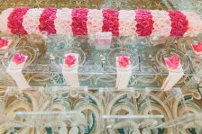 Victoria Secret PINK party houston event planner glass table
