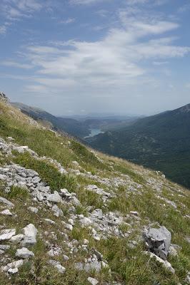 vue sur le lac monte marsicano