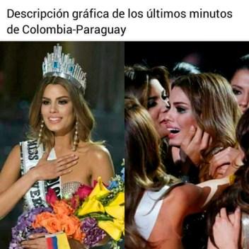 Últimos minutos de Colombia - Paraguay