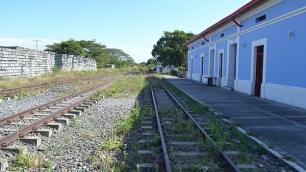 La línea del ferrocarril