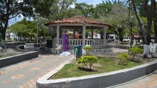 El parque principal de La Victoria
