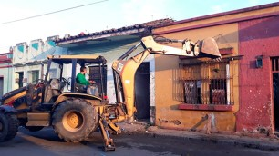 Inicio de demolición