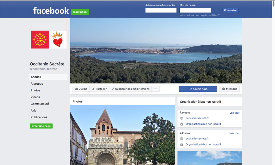 Page Facebook Occitanie Secrete