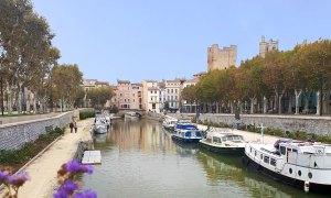 Narbonne et canal de la Robine
