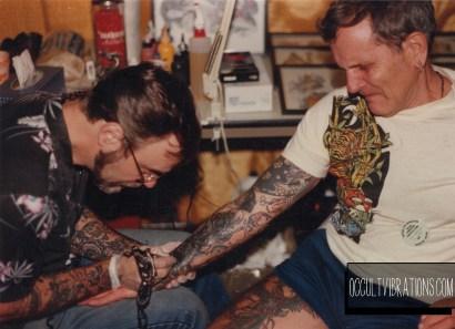 Jeffrey Denoncour tattooing Emil