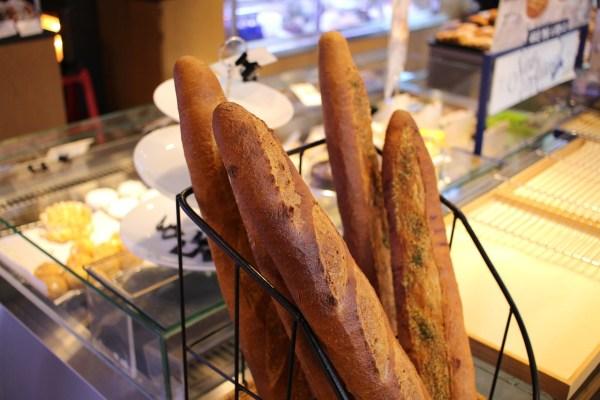 Freshly baked baguettes in France