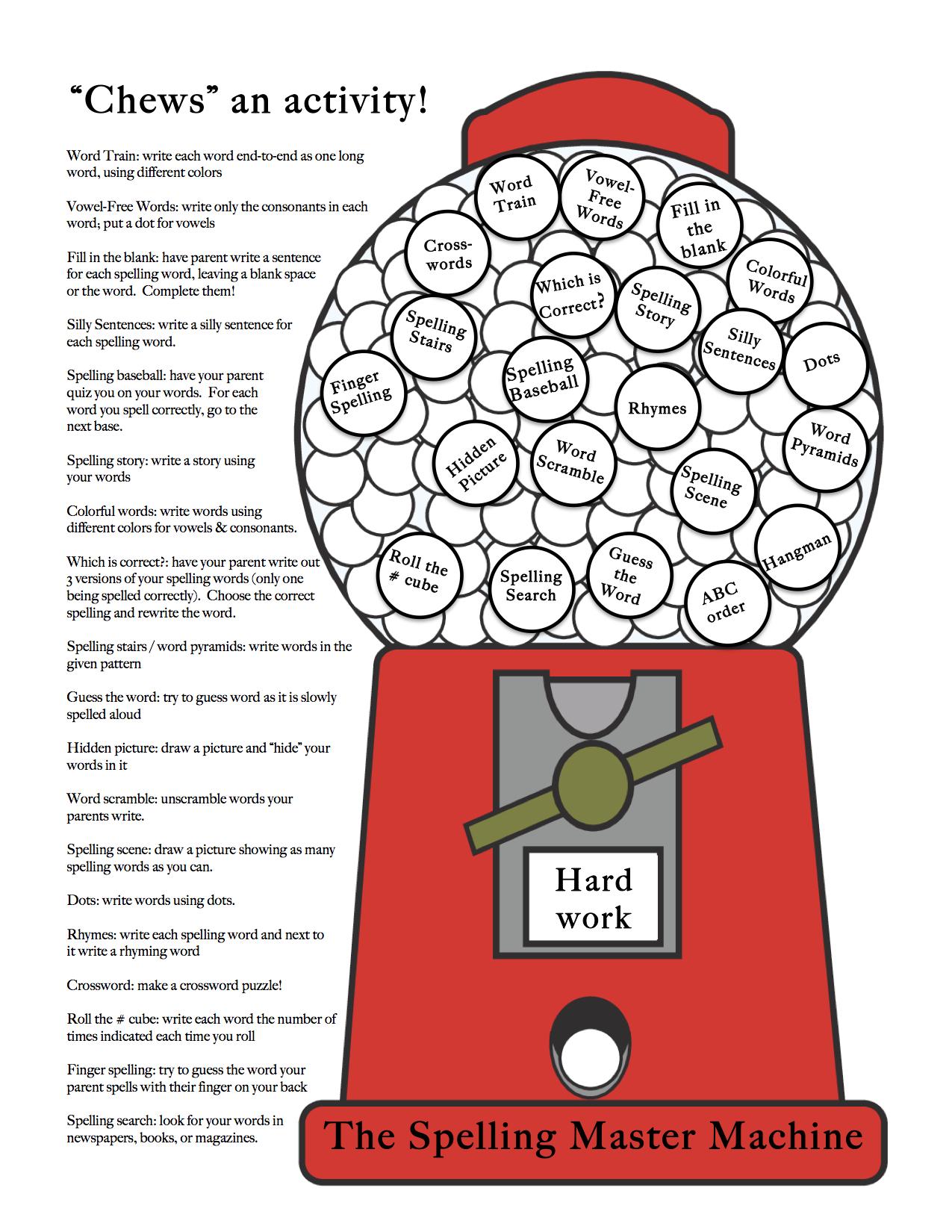Spelling Practice Guide For Elementary School