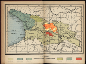Georgian SSR ethnic composition (1931) with South Ossetia projected into the map.