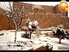 Snow in Palestine - Snow in Jerusalem Photo via QudsMedia - 13