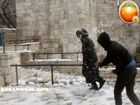 Snow in Palestine - Snow in Jerusalem Photo via QudsMedia - 46