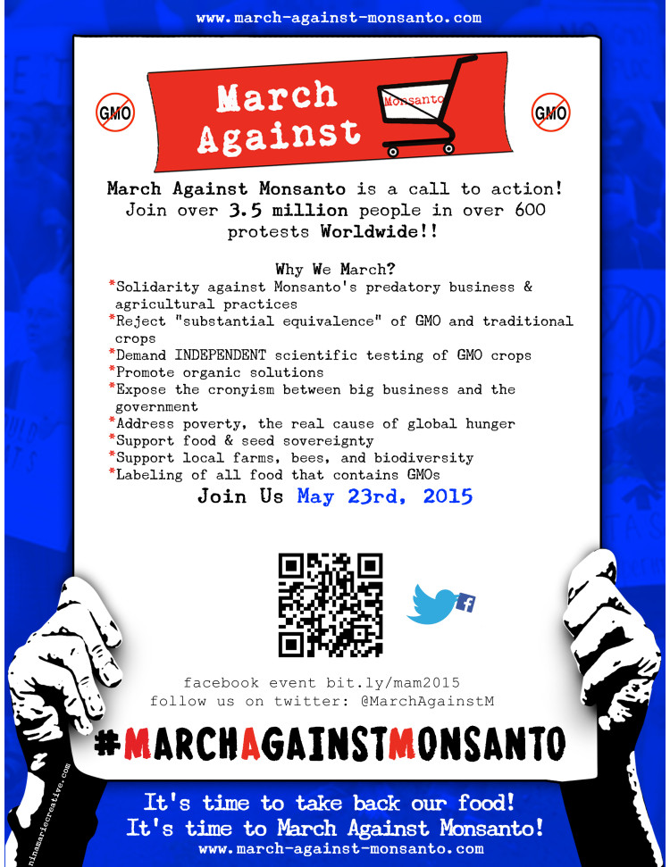 MAM ALL May23 e1431096215781 March Against Monsanto, May 23, 2015 USDA Tumors Protest Organize organic Notes Monsanto Protection Act Monsanto March Against Monsanto March infertility GMO Seeds GMO Labeling gmo Global Day of Action FDA EPA Demonstration Congress civil disobedience cancer Boycott birth defects Activism #OpMonsanto