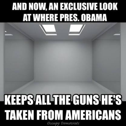 EMPTY ROOM GUNS GRABBED BY OBAMA libtard 2A arguments