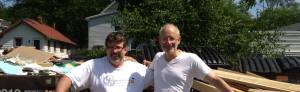 Bruce and Allen, dumpster divers