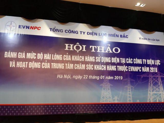 Hội thảo Đánh giá hài lòng khách hàng Điện lực Miền Bắc